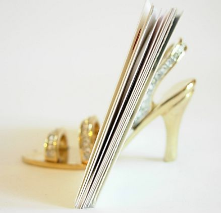 Swarovski crystal shoe business card holder photo1 colourmoves